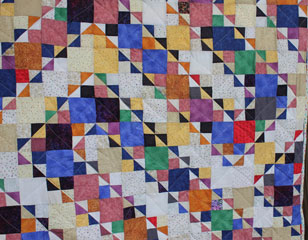 winding road quilt closeup