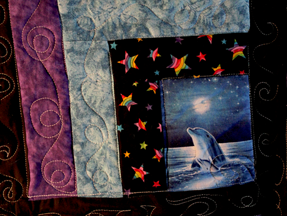 Close up dolphin quilt